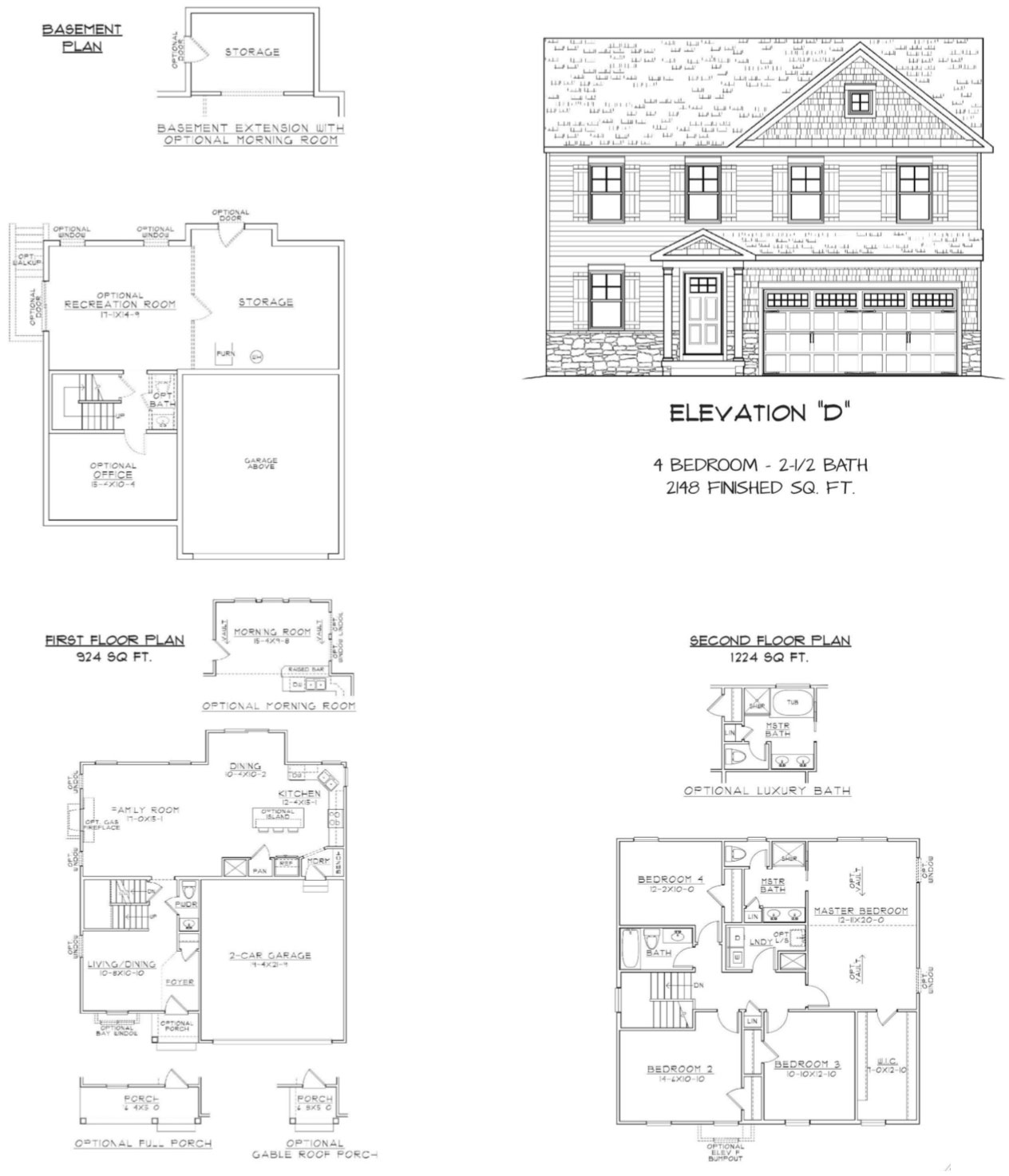 Floorplans Jgh Building Amp Consulting South Stafford